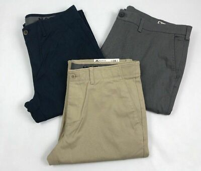 Haggar Mens Clothing Sustainable Stretch Chino Flat Front Straight Fit Pants