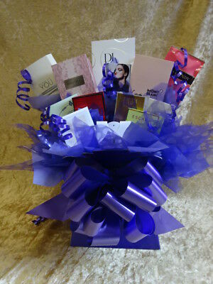 Purple Sweet & Flower Style Perfume Bouquet Vial Samples Gift Bows Hamper Gift