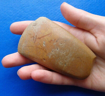 Ancient Neolithic stone ax.