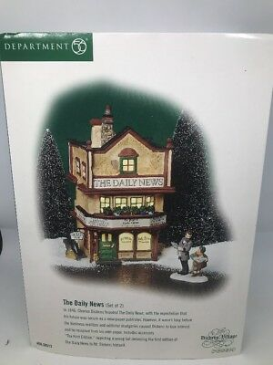 Dept 56 Heritage Dickens' Village Series THE DAILY NEWS 2Pc No. 56.58513 Retired