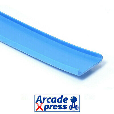 Perfil U Molding Canto Couvre Chant 16mm Bartop Azul Blue Arcade Cabinet