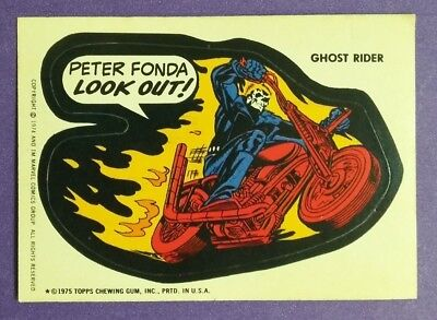 MARVEL / TOPPS Vintage 1974-75 Comic Book Heroes Sticker- GHOST RIDER