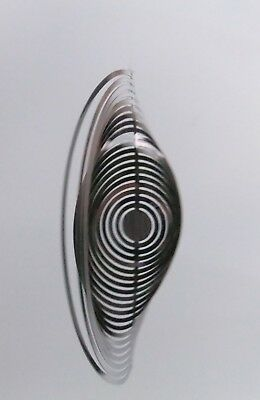 METAL STAINLESS STEEL SWIRLY WIND SPINNER 5 1/4 Inches
