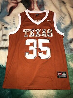 cheaper e0519 7f122 NIKE ELITE UNIVERSITY of Texas UT Basketball Jersey Kevin Durant Adult  Medium