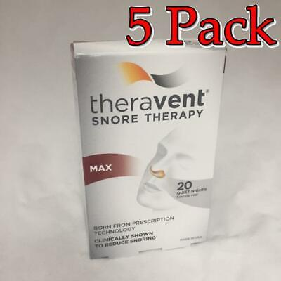 Theravent Snore Therapy Strips, Maximum, 20ct, 5 Pack 858076006019A1300