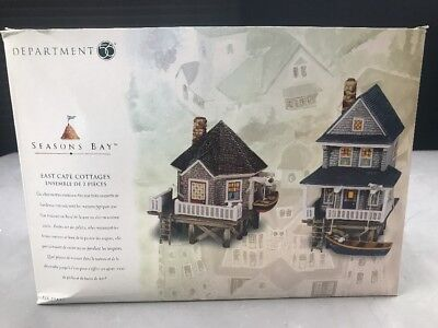 Dept 56 Seasons Bay East Cape Cottages Set of 2 New In Box 53448