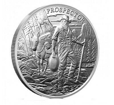 1 Troy Ounce Silver Round | Prospector | .999 Fine