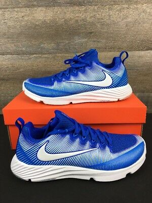 Nike Vapor Speed Turf Trainer Lax Football Shoes Size 11.5  Blue White Cleats