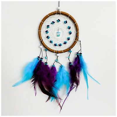 Purple Blue Dream Catcher Hand Made Decorations | Ships FREE In US