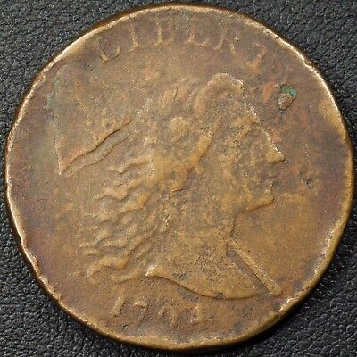1794 Head of '94 S-21 Liberty Cap Flowing Hair Early Copper Large Cent