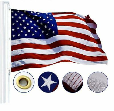 G128 – American Flag US USA | 5x8 ft | Tough SPUN POLYESTER, Embroidered Stars