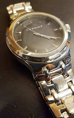 Men's Limited Edition Azzaro Chrome Cologne Perfume Promotional Watch Steel