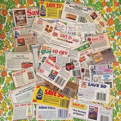 175+ VTG 80s 90s No Expiration Date Grocery Store Coupon Lot Laundry Cereal #3
