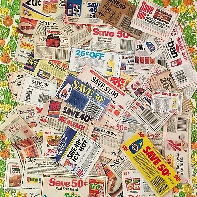 175+ VTG 80s 90s No Expiration Date Grocery Store Coupon Lot Laundry Cereal #1