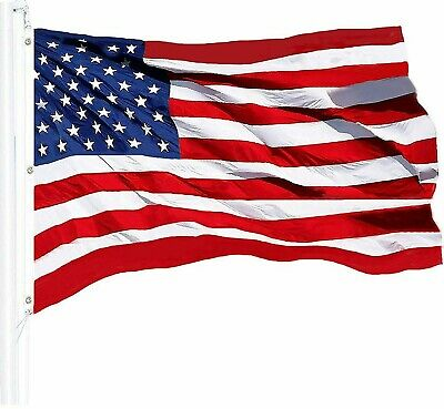 G128 – American Flag US USA | 6x10 ft | Commercial-Grade NYLON Embroidered Stars