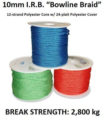 10mm Polyester Braid Dinghy Yacht Halyard Sheet Boat Sailing Rope **PER METRE**