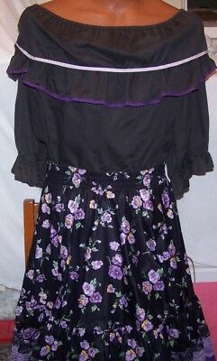 Ladies Square Dance Outfit & Man's Shirt to Match