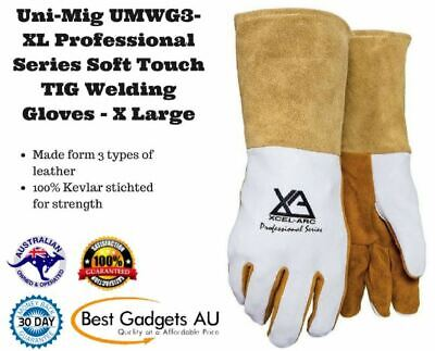 Uni-Mig UMWG3-XL Professional Series Soft Touch TIG Welding Gloves - X Large