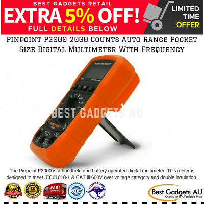 Pinpoint P2000 2000 Counts Auto Range Pocket Size Digital Multimeter Frequency