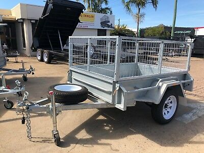 "6x4 GALVANISED BOX TRAILER | 2FT CAGE | FULL CHECKERPLATE | 12"" SIDES"