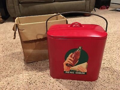 Vintage COCA COLA Ice Chest Cooler with Box SUPER RARE - All Original!!  Coke