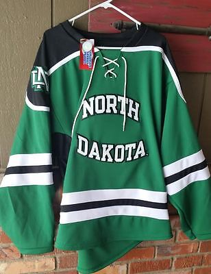 UND University of North Dakota Fighting Sioux Hockey K 1 Green Medium Jersey New