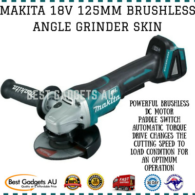 Makita 18V 125Mm Brushless Angle Grinder Dga505Z Cordless Tool Skin Only