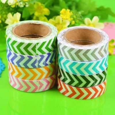 1Roll Washi Sticky Fabric Masking Adhesive Decorative Tape Scrapbooking
