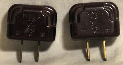 2 vintage eagle brand bakelite christmas lights winker plugs
