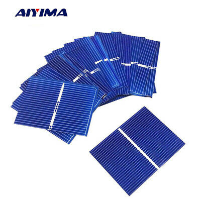 Aiyima 40pcs 52x38MM 0.3W Silicon Solar Panel DIY Solar Cells Battery Charging