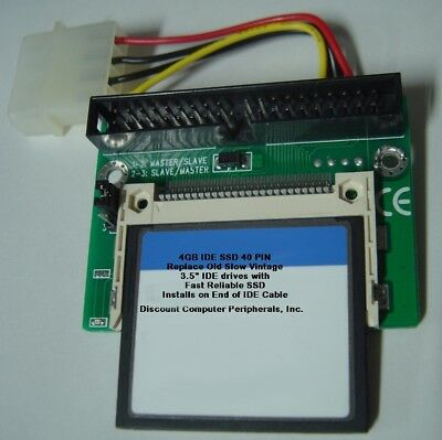 "256 Megabyte DOM SSD Replace Vintage 3.5/"" IDE Drives with 40 PIN IDE SSD Card"