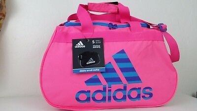 0e852acdcb NWT ADIDAS Diablo Small II Duffel Bag Solar Pink Blue Sport Gym Travel Carry
