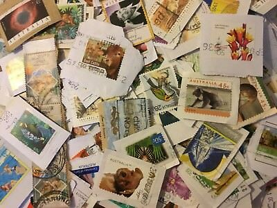 Over 100x pieces Australian Collection Used Postage Stamps Bulk Mixed kiloware