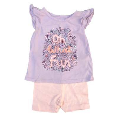 """NEW & Used OLD NAVY Girls 18-24m """"Oh What Fun"""" Shimmer Shorts Outfit LOT"""