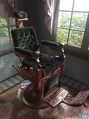 Antique Kochs Gold Medal Hydraulic Barber Chair