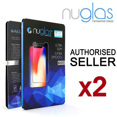 2x Apple iPhone XS Max 8 7 Plus GENUINE NUGLAS Tempered Glass Screen Protector