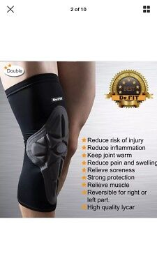 Dr.Fit Knee Brace Sleeve-Leg Support Compression Pads for Impact Protection