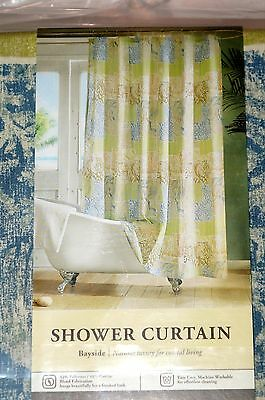 KOHLS BAYSIDE Fabric Shower Curtain Oceanic Sea Print 70 Inx72 In New