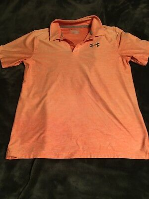 Boys Under Armour Golf Shirt Loose Heatgear size Youth Large