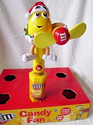 M&m Brand Yellow Character Limited Edition Christmas Candy Fan New