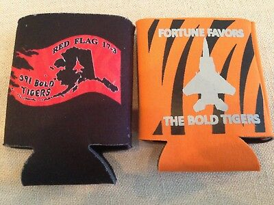 """Red Flag 391 Fighter Squadron """"bold Tigers"""" Coozies, F-15E, Usaf"""