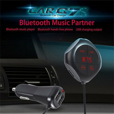 6-in-1 Q7S Hands-Free Wireless Bluetooth FM Transmitter Car MP3 Player TF/SD USB