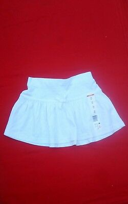 Wonderkids Girls Skirt 3T  100% Cotton   White Solid