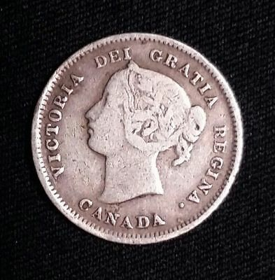 1899 5C Canada 5 Cents World Silver Coin Free Shipping!