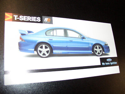 Ford Tickford Ts50 2001 Promo Card / Brochure Mint Condition