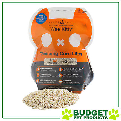 Rufus & Coco Wee Kitty Clumping Corn Cat Litter 2kg