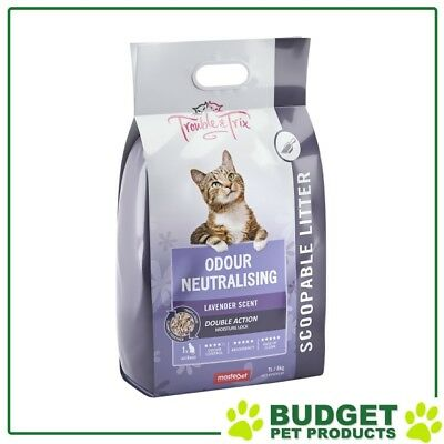 Trouble & Trix Lavender Clumping Scoopable Clay Litter For Cats 7L Bag / 6.7kg