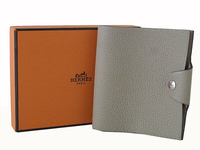 Auth HERMES Agenda Note Book Cover Leather Beige France Box- m312