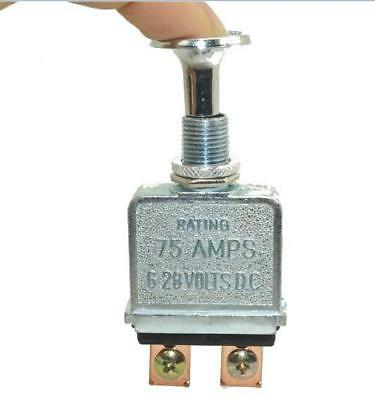 Heavy Duty 75 Amp Push Pull Switch 12-24 Volt For Big Trucks/Hot Rods/Boat/Race