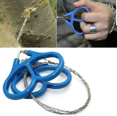 2 x Stainless Steel Wire Saw Camping Survival Rope Emergency Equipment Tool
